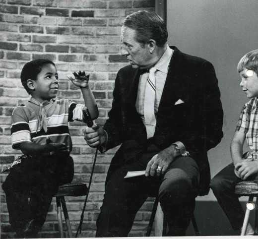 "Marc and Michael Link on ""The Art Linkletter Show"" with Art Linkletter."