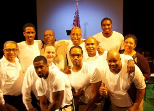 A SOLDIER'S PLAY ~ PROJECT1voice- Cleveland, Ohio. — with Leon Bibb - WEWS, Antuane Rogers, Terrono Oliver, Ahren Stock, Jimmie Woody, Anthony Elfonzia Nickerson-El, Robert Alexander, Kyle Carthens and Debra Rose (Stage Manager).