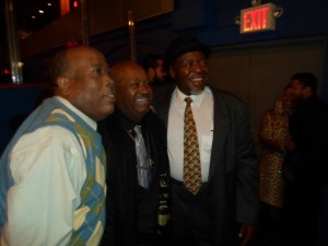 "Dale Shields, Jeffery V. Thompson and Chuck Cooper at the 2013 ""VIV"" awards - AUDELCO"