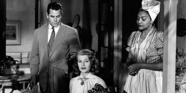 Affair in Trinidad (1952) - Glenn Ford, Rita Hayworth and Juanita Moore (Dominique)