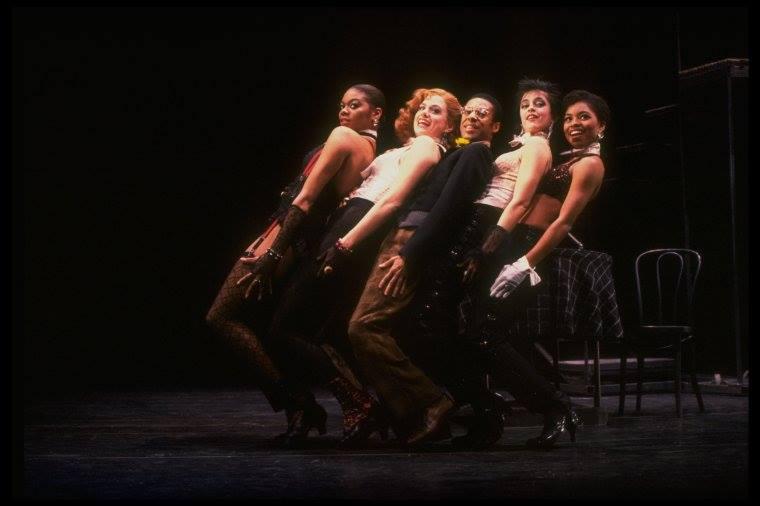 "Alde Lewis, Jr. and Stephanie Pope, Kim Darwin, Amelia Marshall, Cady Huffman ~ Broadway musical ""Big Deal."" (New York) Martha Swope (Photo)"
