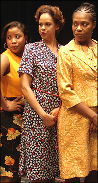 Eleasha Gamble, Terry Burrell and Cheryl Alexander in The Women of Brewster Place.