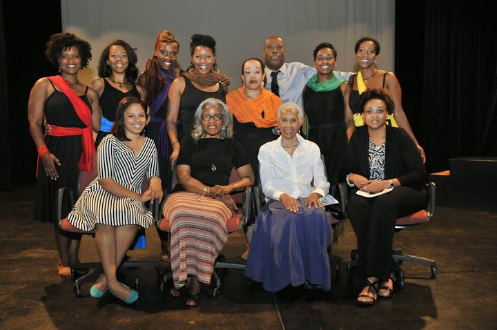 Mariama Whyte, Maha McCain, Latoyia Jones, Benita Rahman, Donna McIntyre Whyte, Nina Domingue Glover, Dale R. Shields, Dianne McIntyre, Sabrina McPherson, Pia Long and Heather E Burton Phd at Rainey Institute