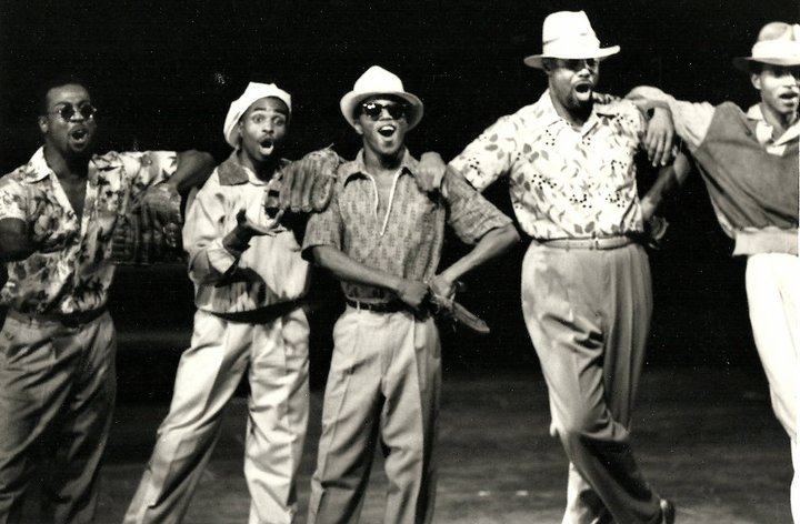 """Dreamteam"" - James Stovall, Stanley Wayne Mathis, Wellington Perkins,Harry Burney and Ed Battle."