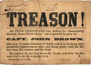 John Brown (abolitionist) Treason_broadside,_1859