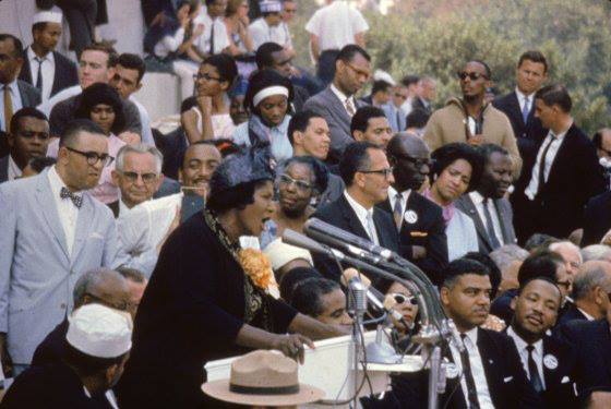Mahalia Jackson performed two songs prior to Dr. King's speech.
