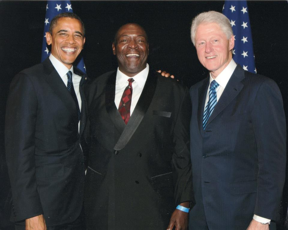 President Obama, Chuck Cooper and President Clinton