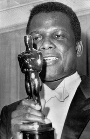 Sidney Poitier becomes the first African-American male to receive an Academy Award