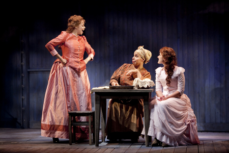 Terry Burrell as Julie, Delores King Williams as Queenie, and Stephanie Waters as Magnolia in Signature Theatre's production of Show Boat