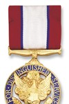Army Distinguished Service Medal See more recipients of this award Awarded for actions during the Peace Time Awards The President of the United States of America, authorized by Act of Congress July 9, 1918, takes pleasure in presenting the Army Distinguished Service Medal to General Colin Luther Powell, United States Army, for exceptionally meritorious and distinguished service in a position of great responsibility to the Government of the United States from October 1983 to September 1993, while serving in consecutive positions of significant responsibility, culminating as the Chairman of the Joint Chiefs of Staff. During the final ten years of his distinguished career, General Powell commanded Army troops in Europe and in the Continental United States, and served as a senior military advisor to several Secretaries of Defense and Presidents. Consistent throughout all his assignments were his visionary leadership, selfless service to the Nation and its people, concern for the readiness of the Armed Forces, and above all compassion for every soldier, airman, sailor and Marine. During his tenure as the Chairman, he was confronted with ever increasing demands for military forces for missions ranging from major regional conflicts to peacekeeping and humanitarian operations. At the same time, the economic demands of the Nation required him to drastically reduce and restructure the military forces. A testimony to his efforts has been the United States' successes in recent military operations throughout the world, to include Panama and the Persian Gulf, and the confidence of the American people in its Armed Forces. Under his stewardship, the United States military power has been renewed to a highly cohesive joint team, and the basis for the continued health of our Army, Navy, Air Force and Marine Corps into the next century has been laid. In sum, General Powell's influence has had a beneficial effect on the security of the free world. General Powell's distinguished service to his country reflects great credit on him and the United States Army. Action Date: October 1983 - September 1993 Service: Army Rank: General Company: Chairman Division: Joint Chiefs of Staff