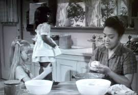 "Alfred Hitchcock, ""Where the Woodbine Twineth.""  Eva (role portrayed by the young actress Eileen Baral), and Suse (the maid, actress Juanita Moore)."