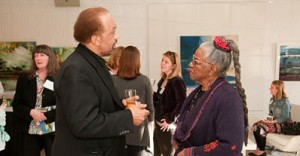 Dr. Alphine Jefferson (Chair of the Black Studies Program) and Faith Ringgold